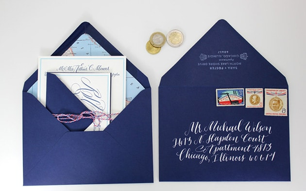 Hand Canceling Your Wedding Invitation Envelopes Posted On July 15 2016 By Brides
