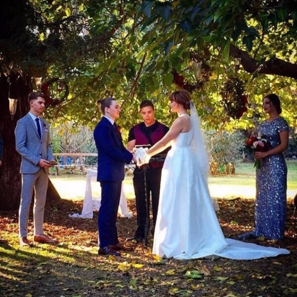 """""""Veronica Mars"""" Star Kyle Gallner is Married! See Photos of the Intimate Outdoor Wedding"""